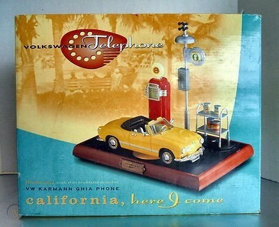 Vintage Volkswagen Karmann Ghia Telefono