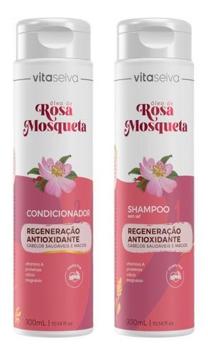 Imagem 1 de 9 de Kit Shampoo 300ml+ Cond 300ml Rosa Mosqueta Vs
