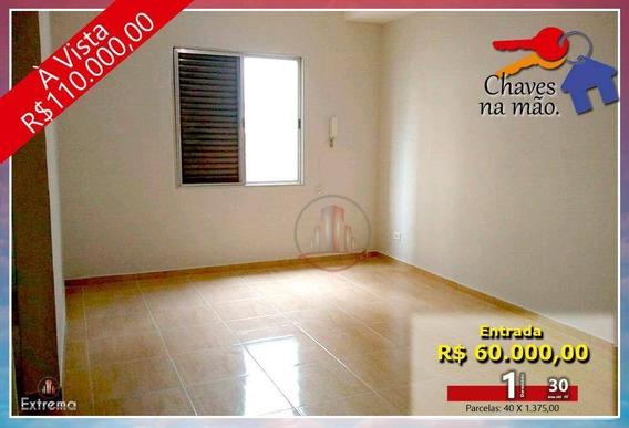 Kitnet Com 1 Dormitório À Venda, 30 M² Por R$ 110.000,00 - Vila Guilhermina - Praia Grande/sp - Kn0155