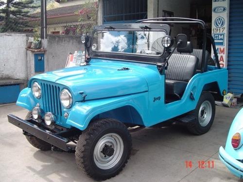 Jeep Willys 4x4 Gasolina 1972 Azul Restaurado Original