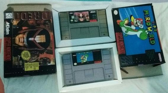 2 Super Jogos S Mario E Juiz Dreda Original Usa S Nintendo