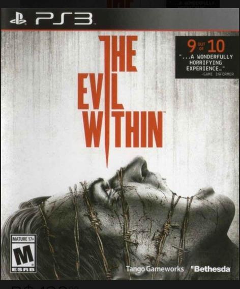 Jogo The Evil Within Playstation 3 Ps3 Mídia Física Terror