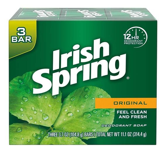 Jabón De Tocador Irish Spring Original 3 Barras 314 Grs