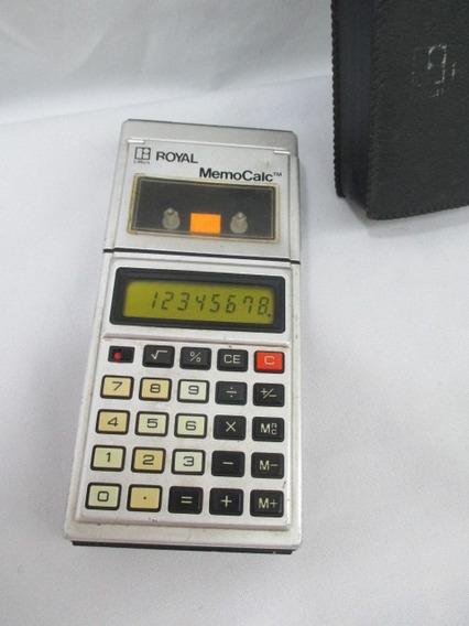 Antiga Calculadora Royal Memocalc Com Gravador Cassete