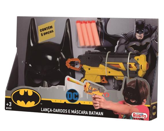 Lanca Dardos E Mascara Batman - Brinquedos Rosita