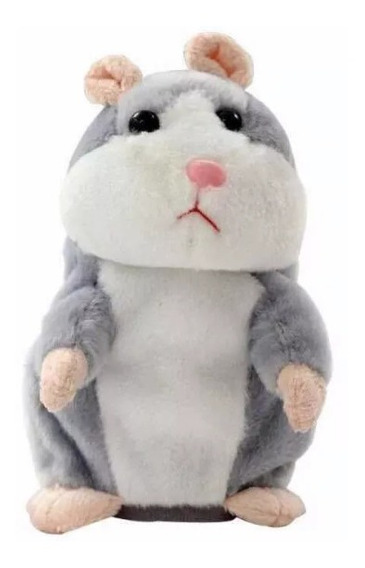 Pelúcia Hamster Falante Repete Tudo O Que Fala