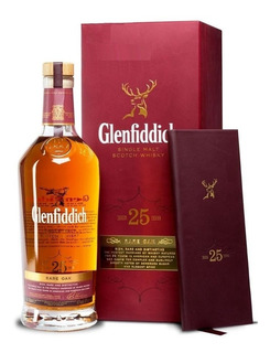 Whisky Glenfiddich 25 Años Con Estuche Single Malt Rare Oak