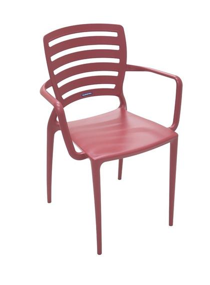Cadeira Com Bracos Sofia Vazada Hz Vermelho