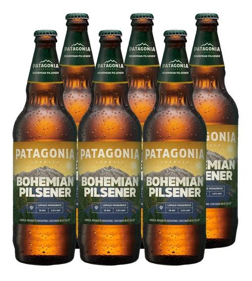 Cerveza Patagonia Bohemian Pilsener 730 Cc X6
