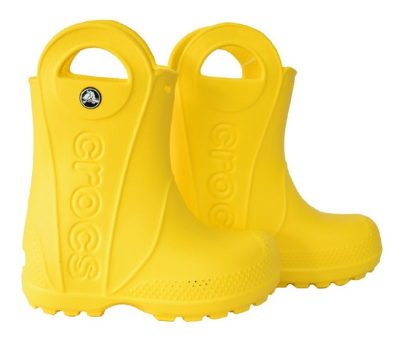 Botas Crocs Handle It Rain Boot Kids Amarilla