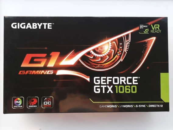 Placa De Video Gtx 1060 6gb Gigabyte G1 Gaming