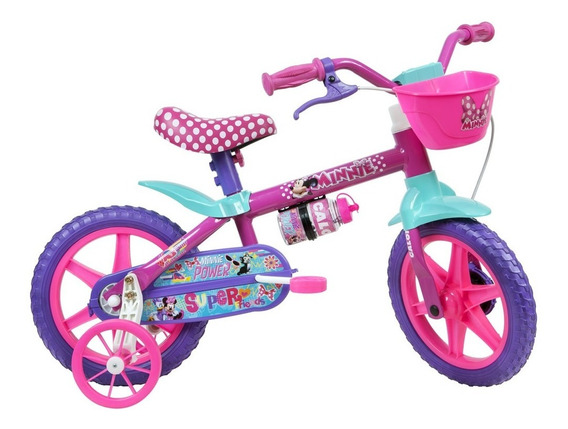 Bicicleta Aro 12 - Disney - Minnie Mouse - Rosa - Caloi