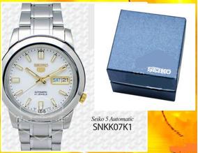 Relógio Automático Seiko 5 Snkk07k1 21 Jewel Aço Inoxidável