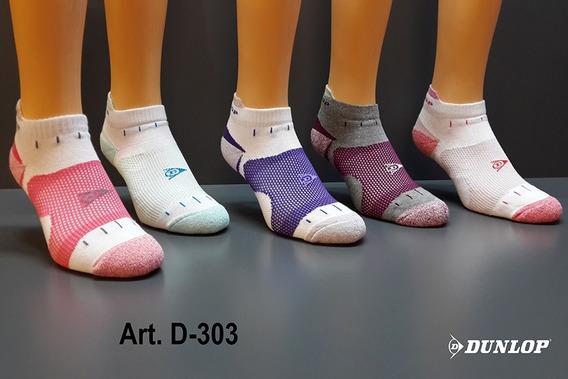 Dunlop Medias Soquete De Algodón De Mujer D303 Pack X 3
