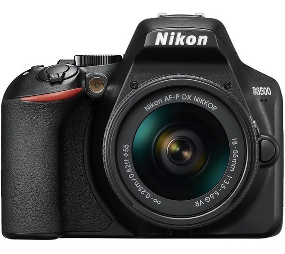 Câmera Nikon D3500 C/18-55mm Vr 2 Anos De Garantia