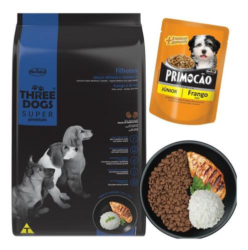 Imagen 1 de 5 de Three Dogs Cachorro Raza Media Y Grande 3 Kg Con Regalo