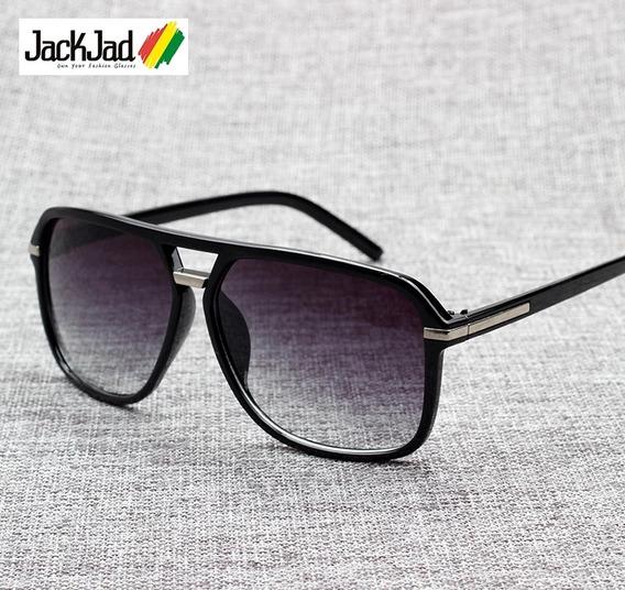 Óculos De Sol Quadrado - Degradê / Black Unissex Uv400