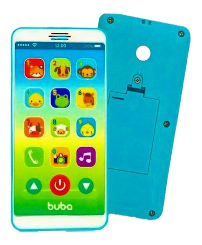 Telefone Celular Infantil Musical Baby Phone - Azul - Buba
