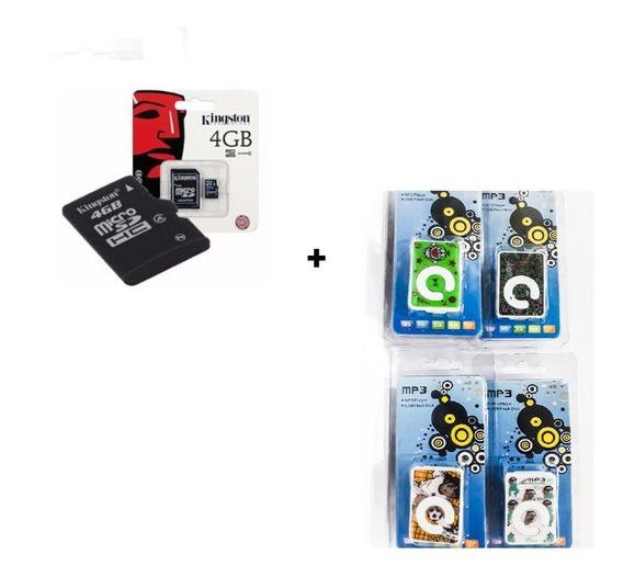 Reproductor Mp3 Shuffle + Memoria Kingston 4 Gb + Audífonos