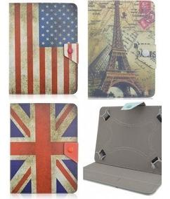 Kit Lote 10 Capas Tablet Bandeira Países Ou De Couro