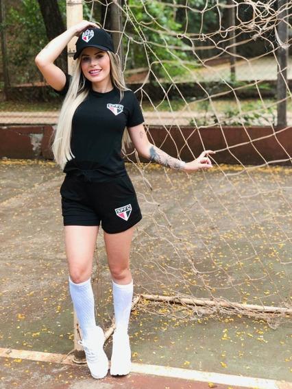 Conjunto Feminino Croped Shorts Lançamento Blogueira