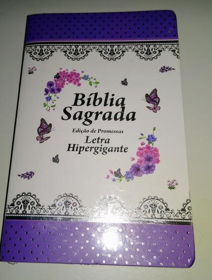 Bíblia Sagrada Roxa Com Índice E Harpa