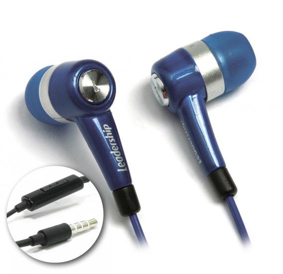 Kit 4 Earphone To-go C/ Microfone Azul Leadership 9361