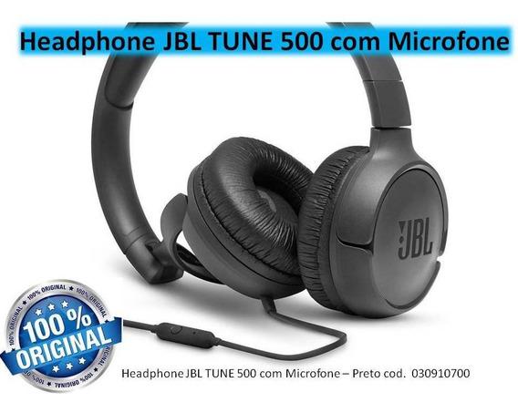 Headphone Jbl Tune 500 Com Microfone - Preto