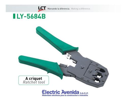 Pinza Crimpeadora Rj9 Rj11 Rj45 Ly-5684b Lct Electricavenida