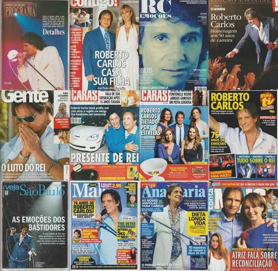Coleção Roberto Carlos Lote 12 Revistas Capa Rc $10,00 Cada