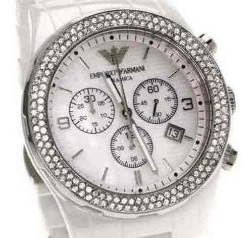 Relógio Empório Armani Ar1456 Cerâmica Feminino Branca