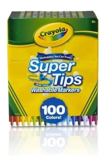 100 Plumones Crayola Originales Super Tips Lettering