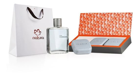 Natura Homem Kit Presente #dia Dos Pais - Frete Grátis