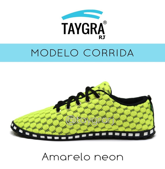 Tenis Modelo Comfort Amarelo Neon