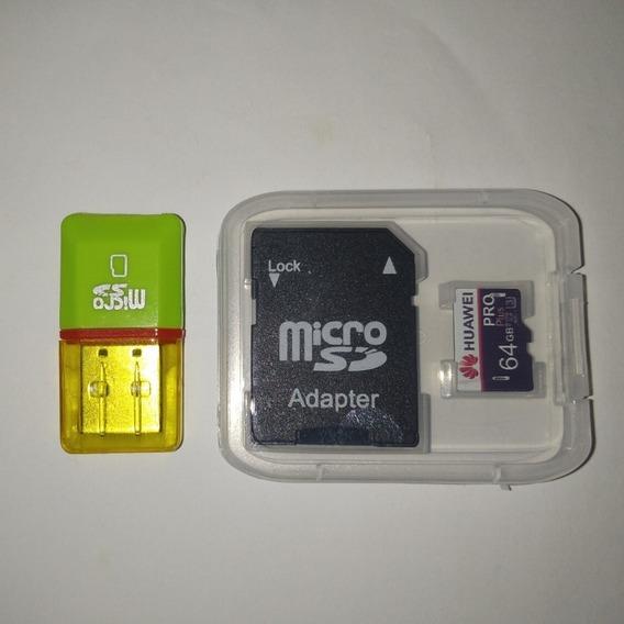 Cartão De Memória 64gb Huawei Original C/adaptador + Brinde