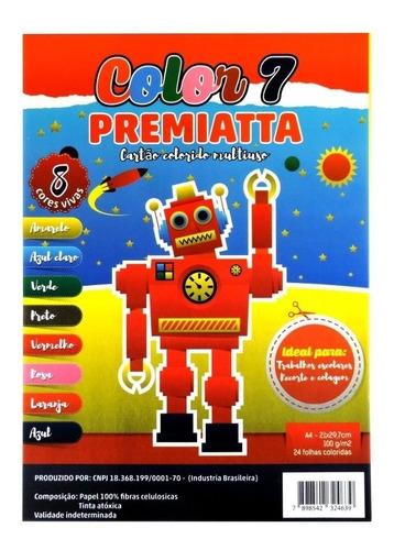Color Set Pct C/ 24 Folhas  A4-21x29,7 Cm 100 G/m2
