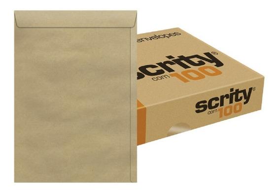 Envelope A4 22 X 32 Cm Curriculum Pardo Scrity 100 Unidades
