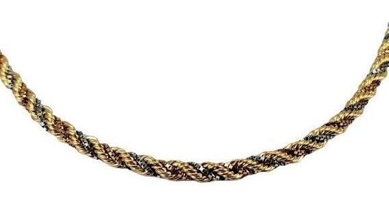 Trancilim Cordão Colar Feminino Ouro 18k Luxo Top 1992