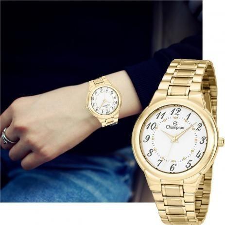 Relógio Champion Feminino Ch22368h Dourado