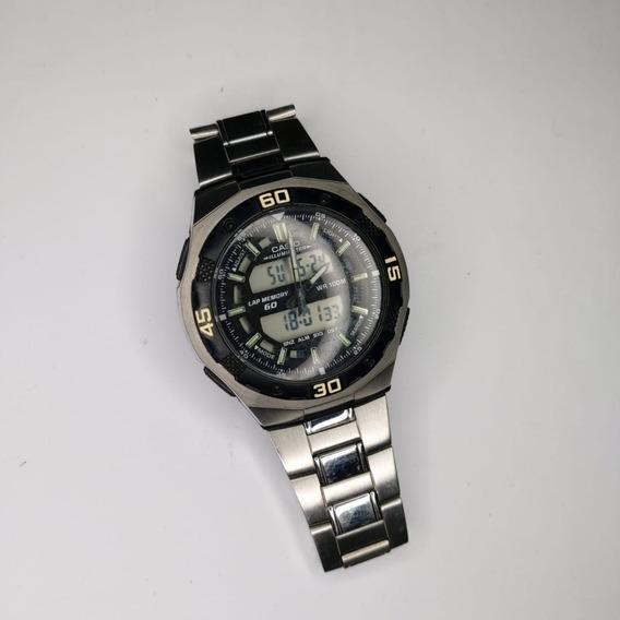 Relógio De Pulso Casio Prata Aq-164w - Pronta Entrega!