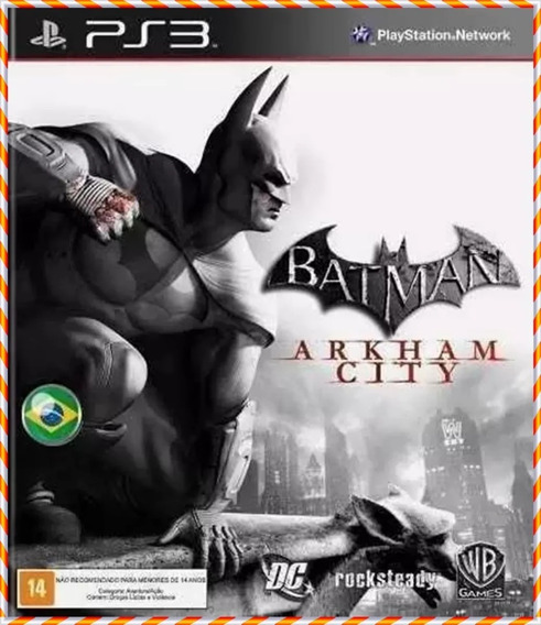 Batman Arkham City Ps3 Psn Pt Br Original Envio Rapido Psn