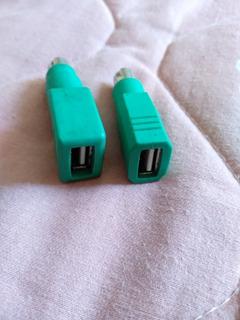 2 Adaptadores De Ps2 A Usb Para Ratón Y Teclado. Juntos