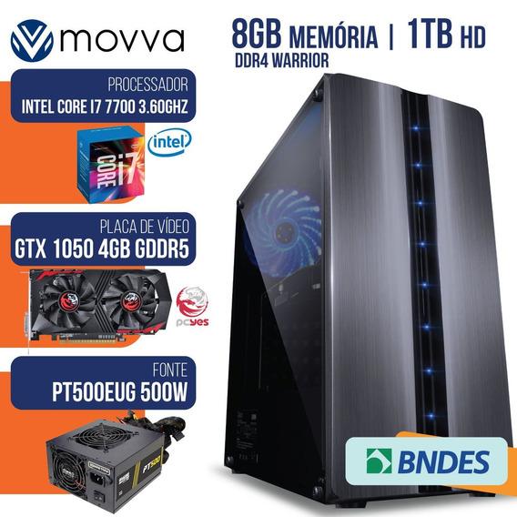 Computador Gamer Intel I7 7700 3.6gh/8gb/1tb/gtx 1050 Ti 4gb