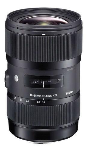 Imagem 1 de 4 de Lente Sigma Dc 18-35mm F/1.8 Hsm Art Para Canon