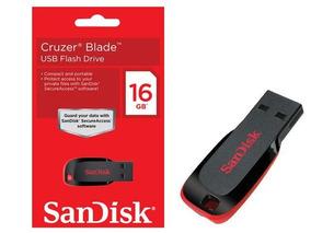 Pen Drive 16gb Usb Cruzer Blade - Sandisk