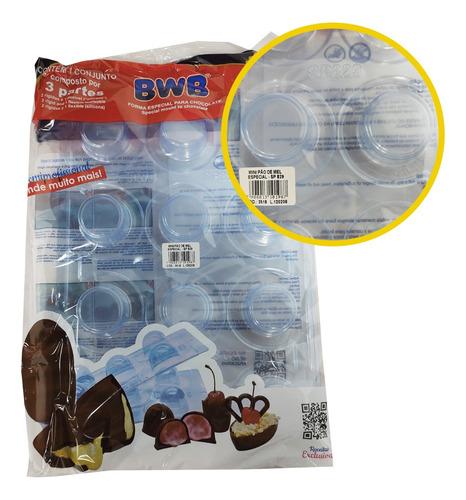 Imagem 1 de 1 de Forma Silicone Bwb Mini Pão De Mel Chocolate Sp 829 Especial