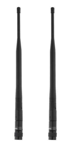 2 Pcs Durável Plástico Uhf Microfone Sem Ganho De Fio Antena