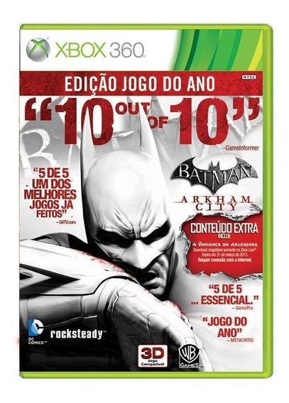 Batman Arkham City Goty - Xbox 360 - Original - Usado
