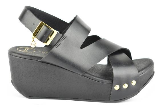 Sandalia Cuña De Mujer Lob Footwear 707-9665 Nuevo Oi19