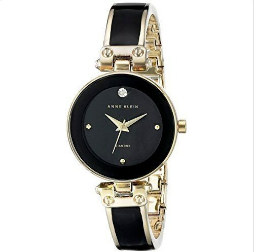 Relógio Anne Klein Womens Goldtone Diamond Dial
